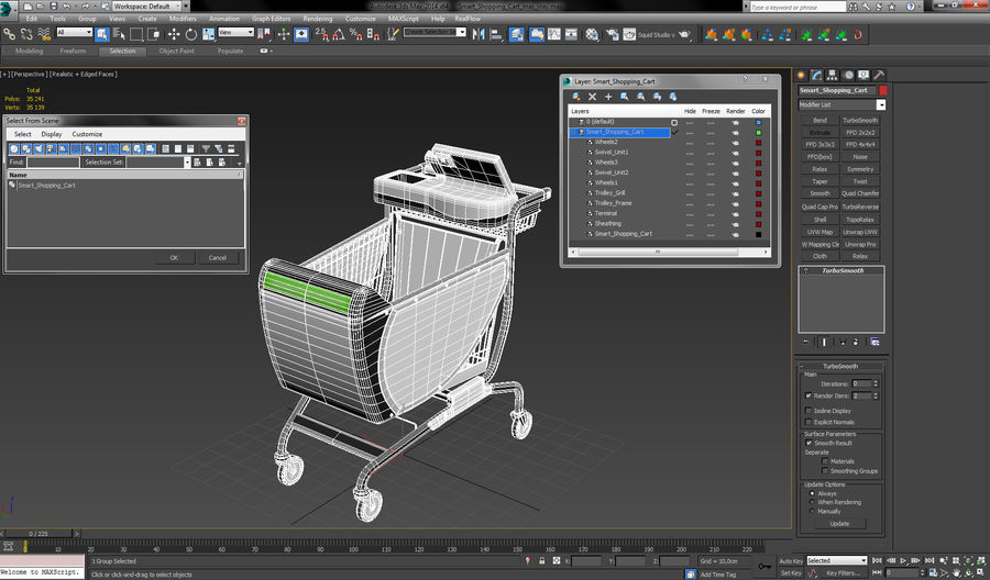 Smart Shopping Cart royalty-free 3d model - Preview no. 22