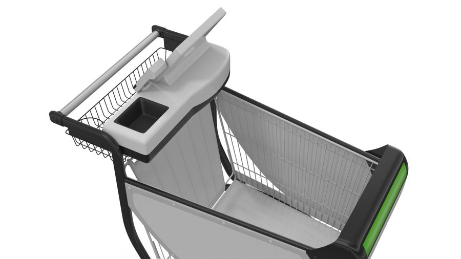 Smart Shopping Cart royalty-free 3d model - Preview no. 13