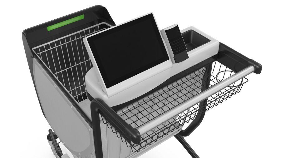 Smart Shopping Cart royalty-free 3d model - Preview no. 12