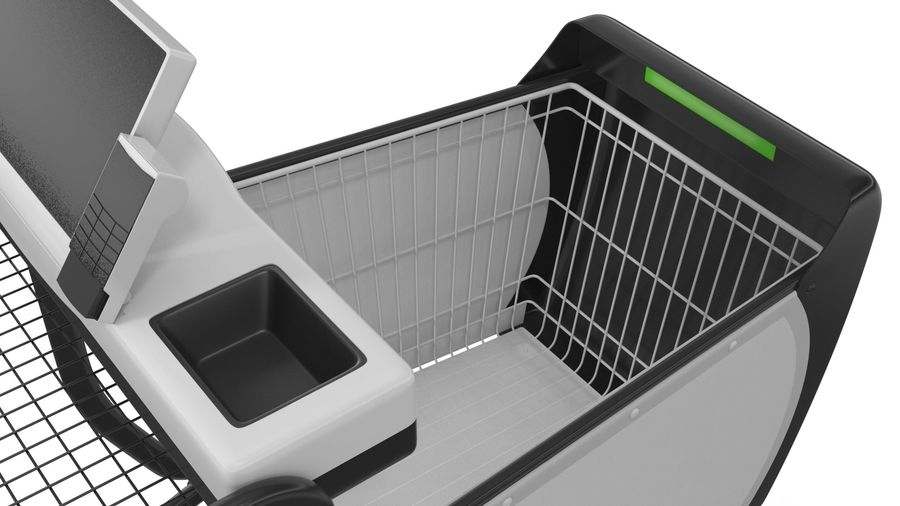 Smart Shopping Cart royalty-free 3d model - Preview no. 15