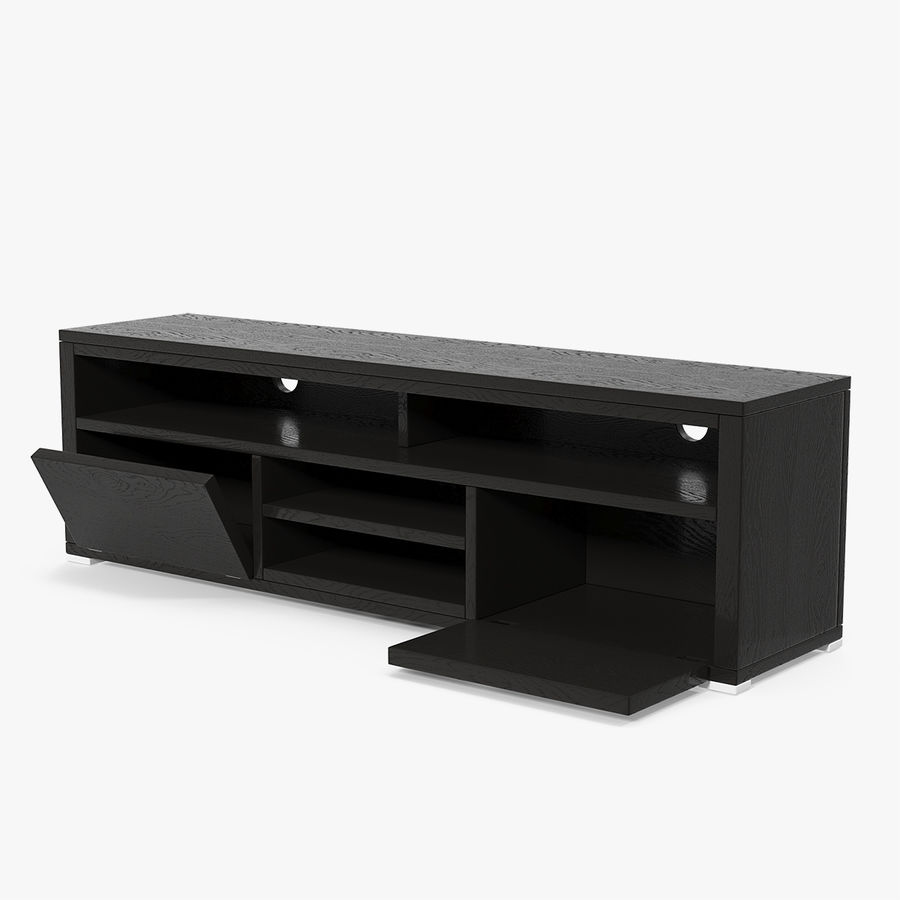 TV Stand Black royalty-free 3d model - Preview no. 1