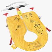 Colete salva-vidas inflável da companhia aérea 3d model