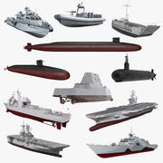US Warships Collection 5 3d model