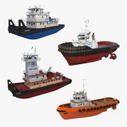 Bogserbåtssamling 3 3d model