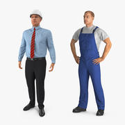 建設エンジニアと労働者のコレクション 3d model