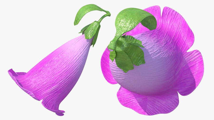 Purple Foxglove Flower royalty-free 3d model - Preview no. 5