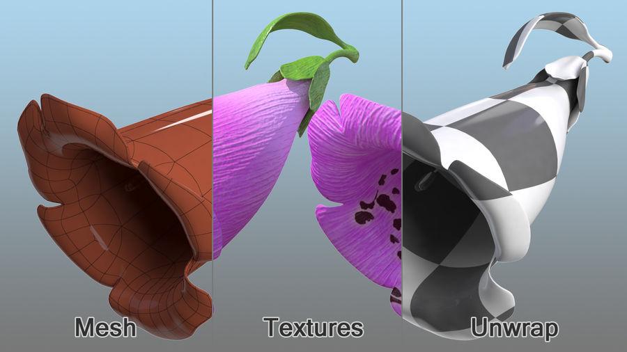 Purple Foxglove Flower royalty-free 3d model - Preview no. 8