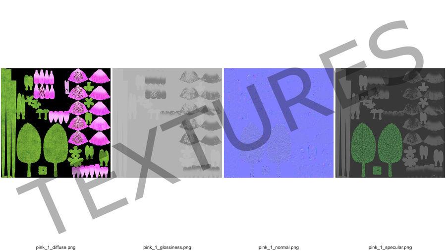 Purple Foxglove Flower royalty-free 3d model - Preview no. 12