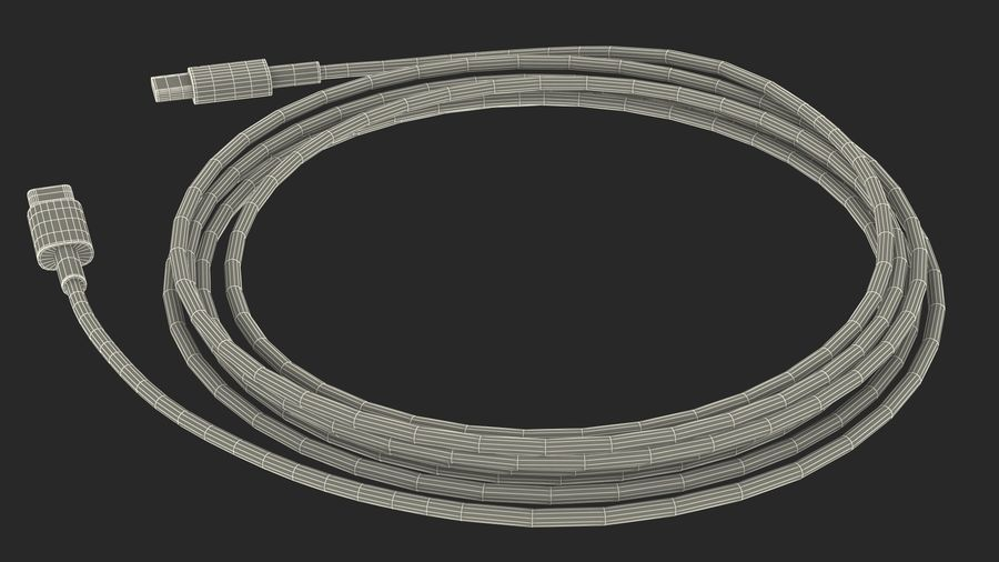 USB Type-C to Type-C Cable Black royalty-free 3d model - Preview no. 21