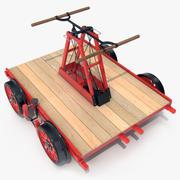 Eisenbahn-Handwagen 3d model