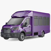 旅客シャトルバスシンプルインテリア 3d model