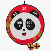 Canaveral Panda Velcro Dartboard Game Set 3d model