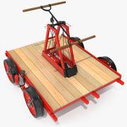 Eisenbahn-Handwagen manipuliert 3d model