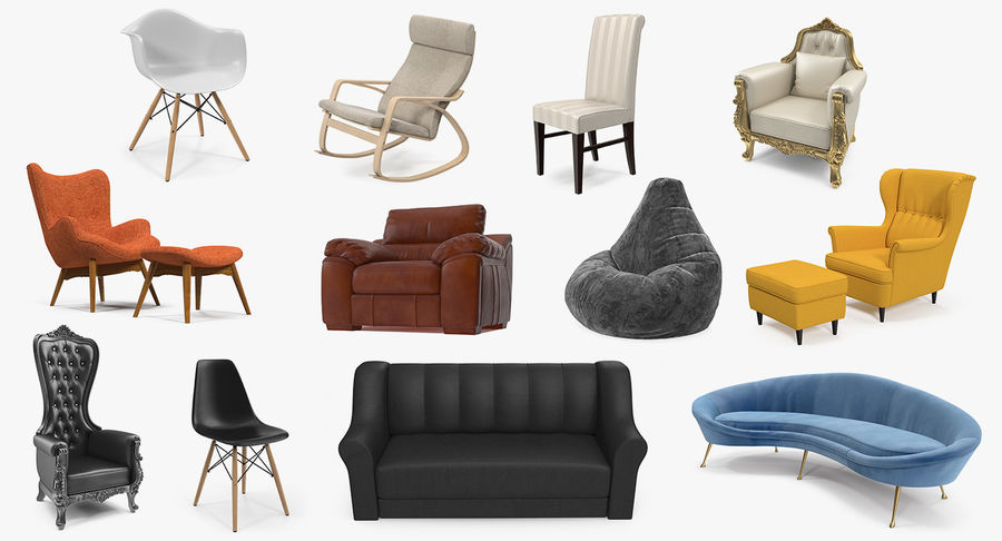 Furnishings Collection 5 royalty-free 3d model - Preview no. 2