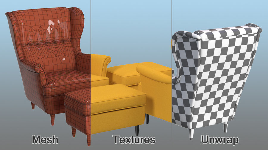 Furnishings Collection 5 royalty-free 3d model - Preview no. 7