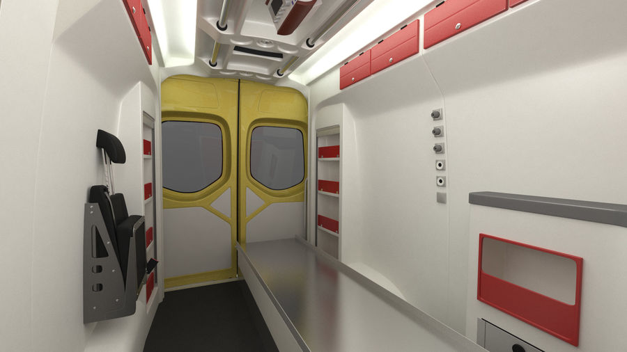 Hospital Building with Emergency Ambulance Collection royalty-free 3d model - Preview no. 14