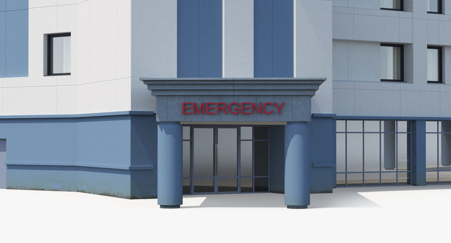 Hospital Building with Emergency Ambulance Collection royalty-free 3d model - Preview no. 27