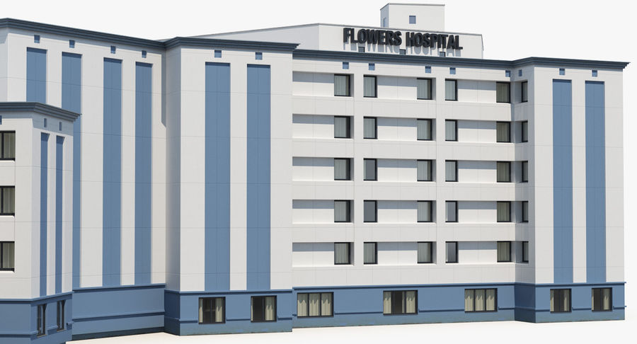 Hospital Building with Emergency Ambulance Collection royalty-free 3d model - Preview no. 24