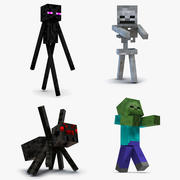 Minecraft Characters Rigged Collection 2 for Maya 3d model