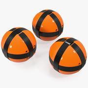 Velcro Target Balls 3d model