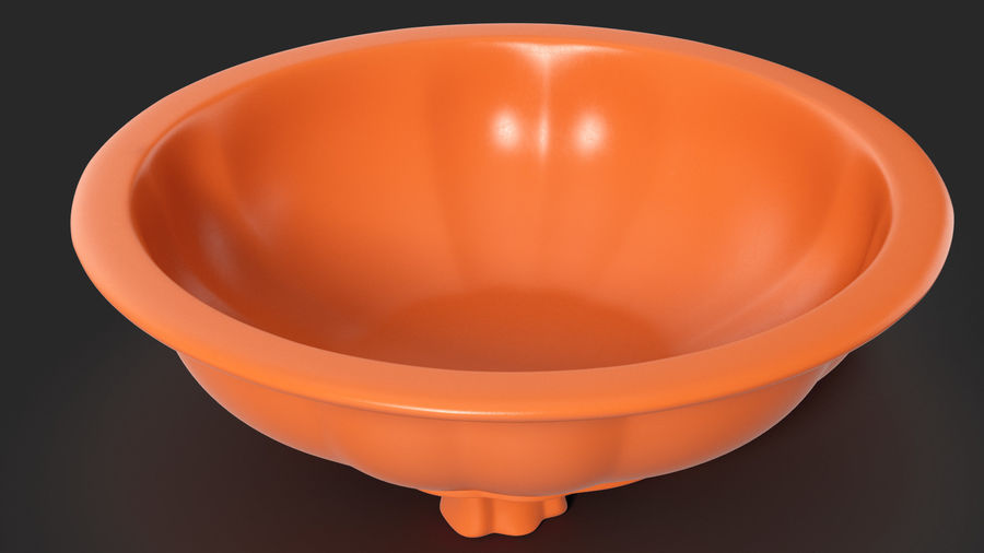 Wide Shallow Flower Pot royalty-free 3d model - Preview no. 5
