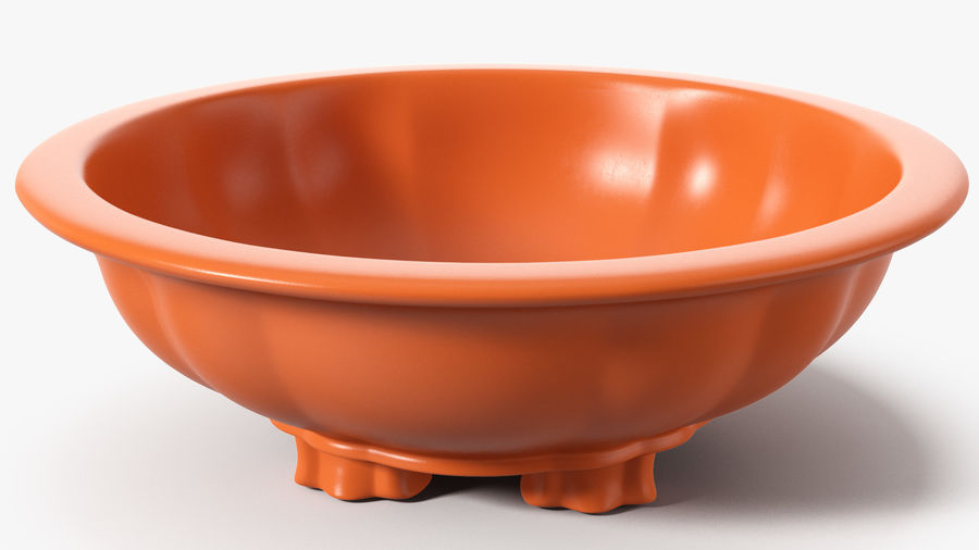 Wide Shallow Flower Pot royalty-free 3d model - Preview no. 2
