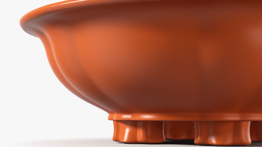 Wide Shallow Flower Pot royalty-free 3d model - Preview no. 9