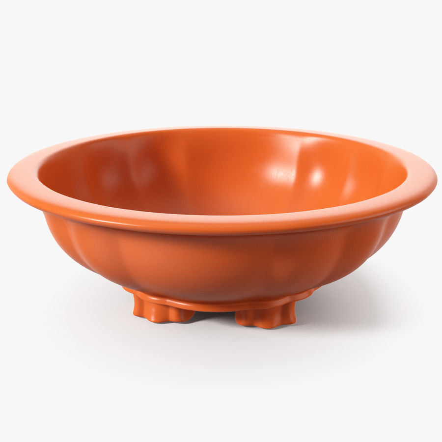 Wide Shallow Flower Pot royalty-free 3d model - Preview no. 1