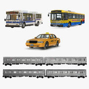Collectie NHC Public Rigged Vehicles 3d model