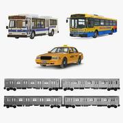 Colección NHC Public Rigged Vehicles modelo 3d