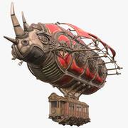 Dirigeable Steampunk Rhinoceros 3d model