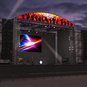 Konzertszene (Nacht) 3d model