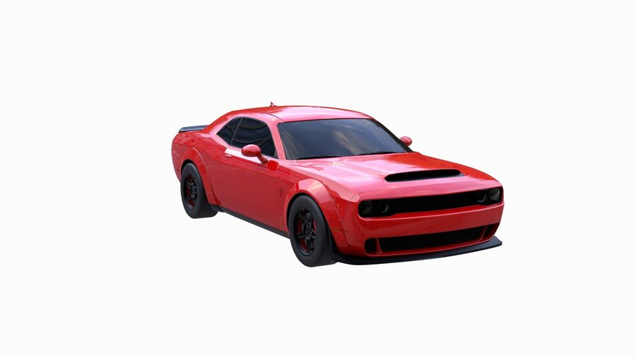 Dodge Demon 2018 royalty-free 3d model - Preview no. 3