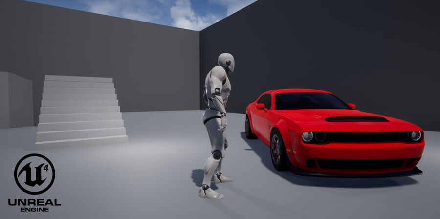 Dodge Demon 2018 royalty-free 3d model - Preview no. 20