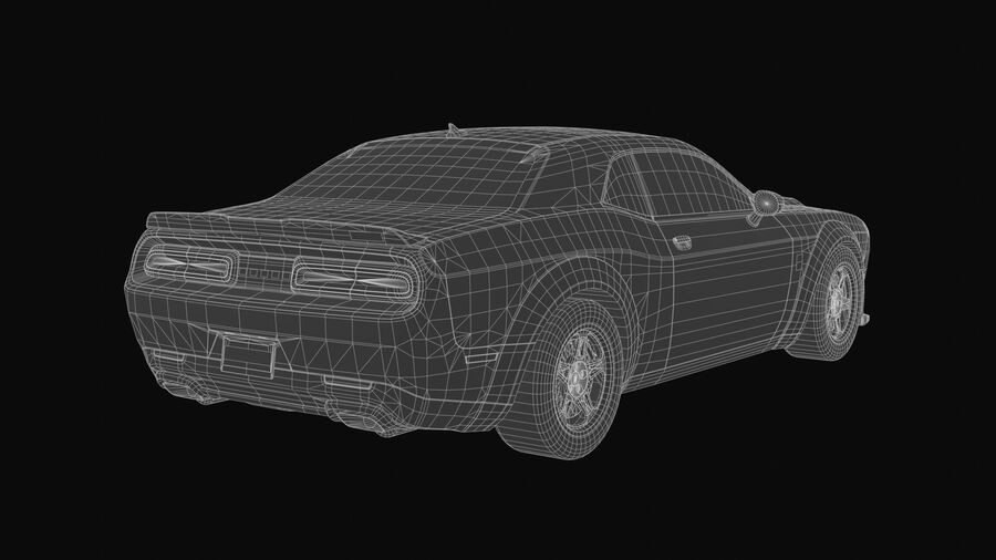 Dodge Demon 2018 royalty-free 3d model - Preview no. 11