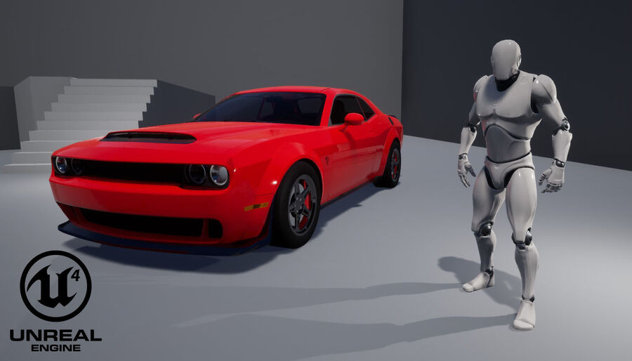 Dodge Demon 2018 royalty-free 3d model - Preview no. 21