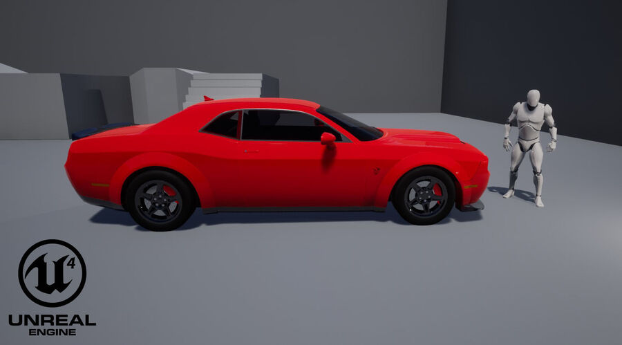 Dodge Demon 2018 royalty-free 3d model - Preview no. 23