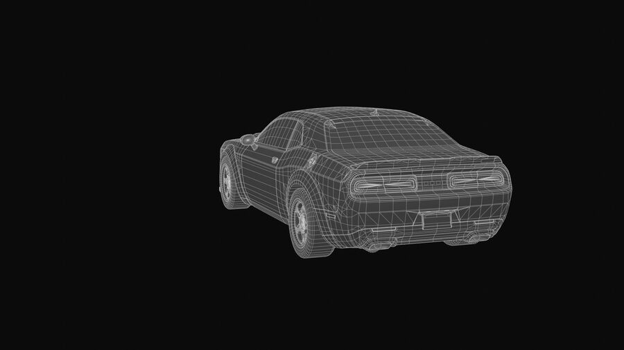 Dodge Demon 2018 royalty-free 3d model - Preview no. 8