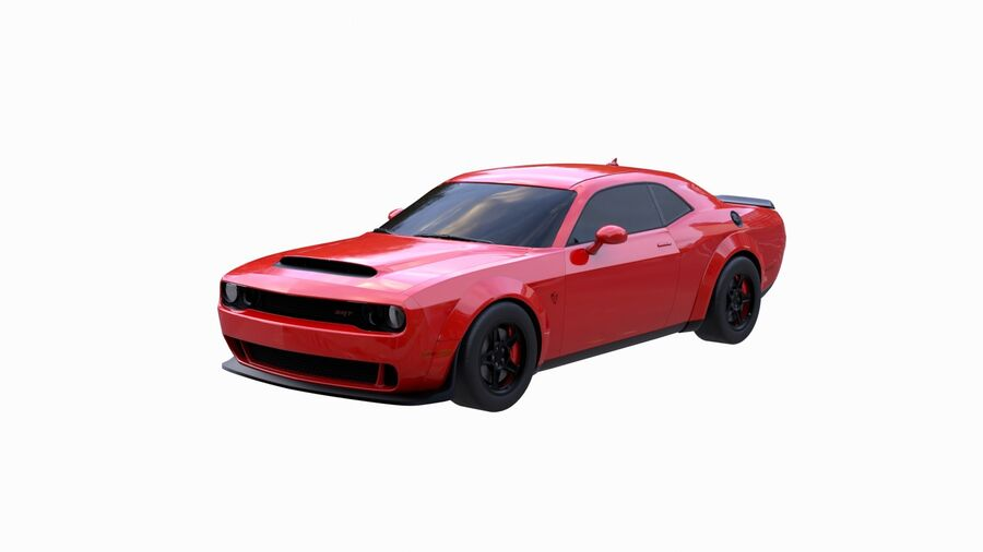 Dodge Demon 2018 royalty-free 3d model - Preview no. 2