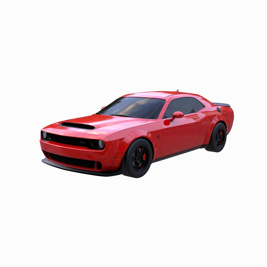 Dodge Demon 2018 royalty-free 3d model - Preview no. 1
