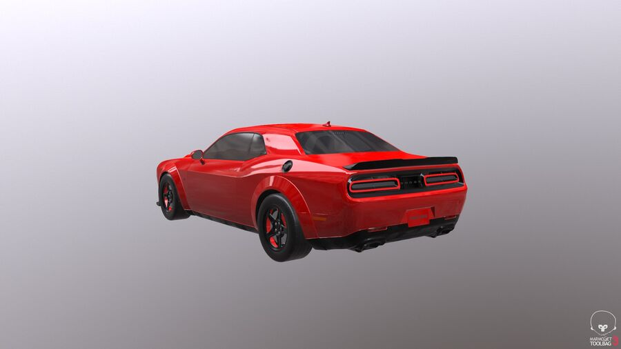 Dodge Demon 2018 royalty-free 3d model - Preview no. 16