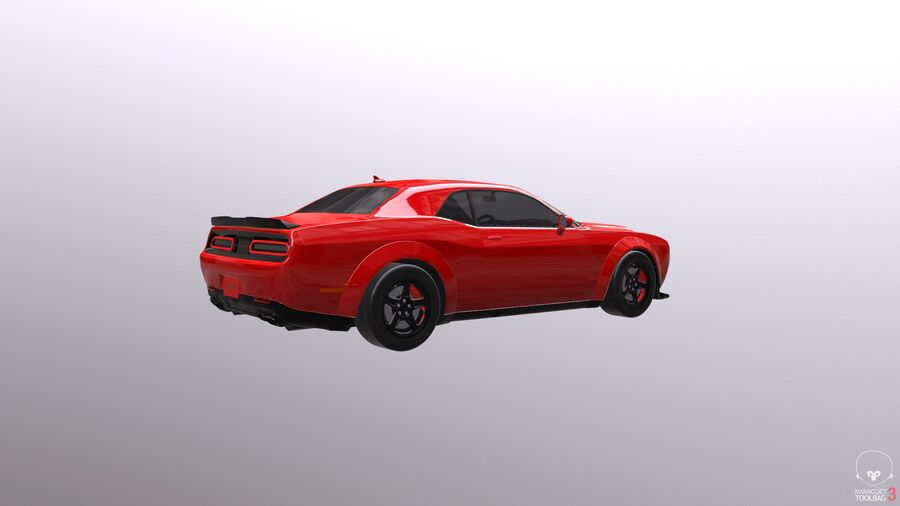 Dodge Demon 2018 royalty-free 3d model - Preview no. 17