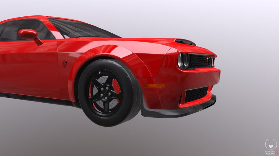 Dodge Demon 2018 royalty-free 3d model - Preview no. 19