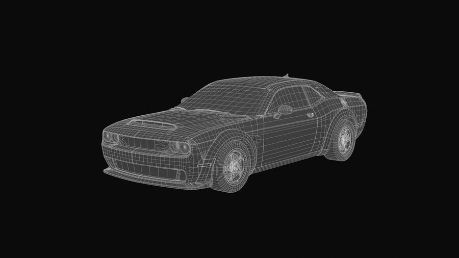 Dodge Demon 2018 royalty-free 3d model - Preview no. 7