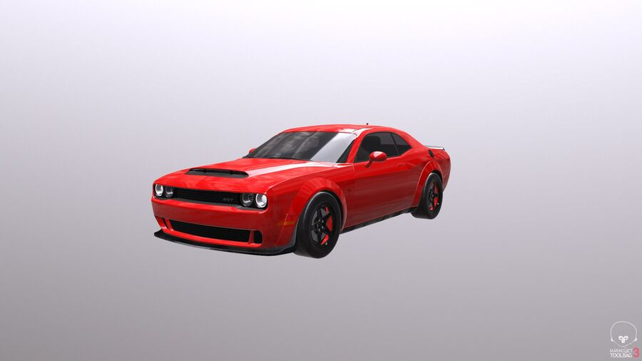 Dodge Demon 2018 royalty-free 3d model - Preview no. 15