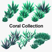 Samling av koraller 3d model