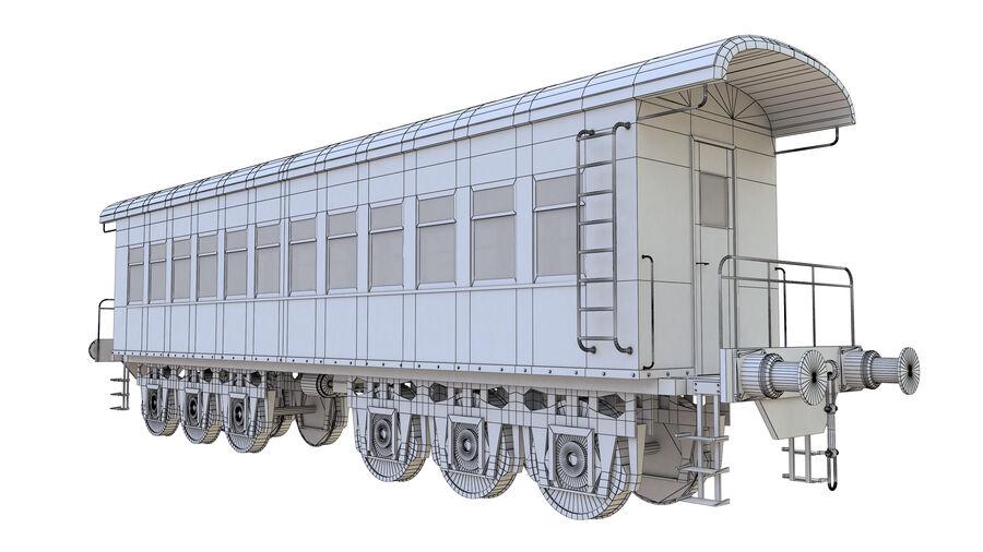 Stora samlingslok och tågvagnar royalty-free 3d model - Preview no. 43