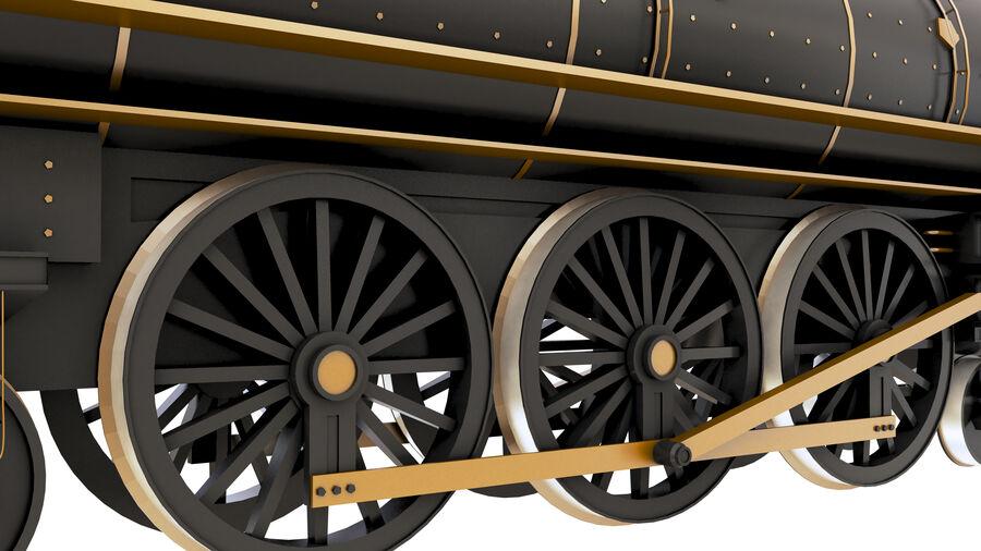Stora samlingslok och tågvagnar royalty-free 3d model - Preview no. 14