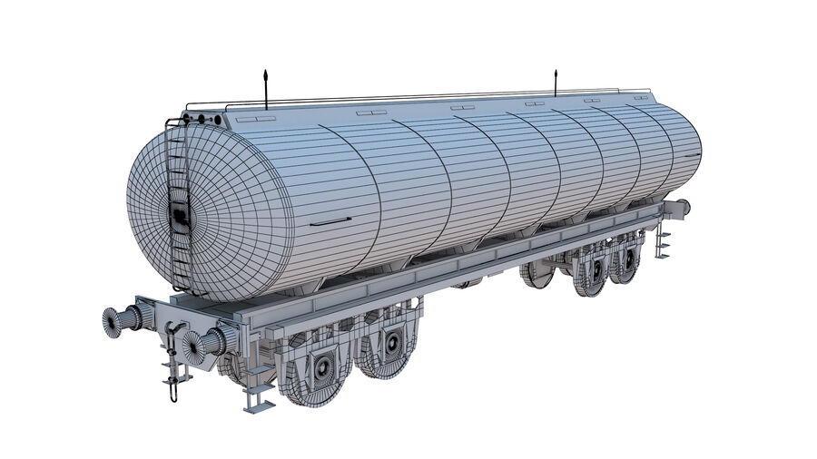 Stora samlingslok och tågvagnar royalty-free 3d model - Preview no. 61
