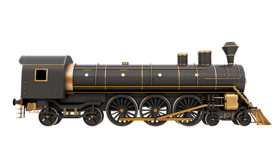 Stora samlingslok och tågvagnar royalty-free 3d model - Preview no. 8